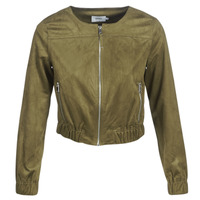 Clothing Women Leather jackets / Imitation leather Only ONLLEONA Green
