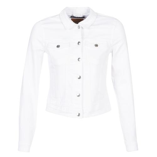 Clothing Women Denim jackets Only ONLTIA White