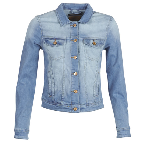 Clothing Women Denim jackets Only ONLTIA Blue / Clear