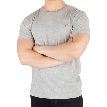 Clothing Men Short-sleeved t-shirts Gant The Original T-Shirt grey