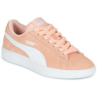 Shoes Girl Low top trainers Puma SMASH V2JR PEAC Coral