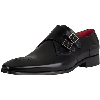 Shoes Men Derby Shoes Jeffery-West Polished Leather Shoes black