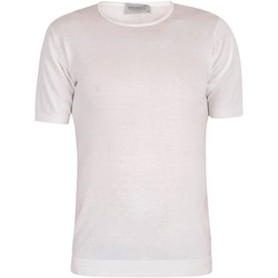 Clothing Men short-sleeved t-shirts John Smedley Men's Belden T-Shirt, White white