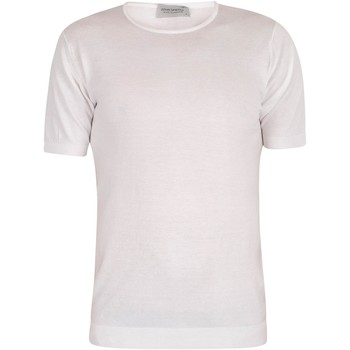 Clothing Men short-sleeved t-shirts John Smedley Belden T-Shirt white