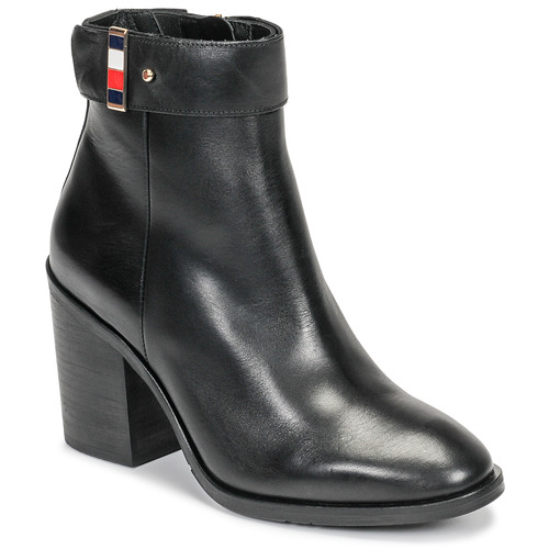 Shoes Women Ankle boots Tommy Hilfiger CORPORATE HARWARE BOOTIE Black