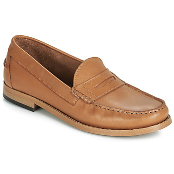 Shoes Women Loafers André CESAR Cognac