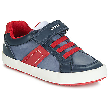 Shoes Boy Low top trainers Geox ALONISSO Navy / Red