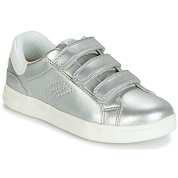 Shoes Girl Low top trainers Geox DJROCK Silver