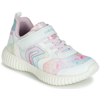 Shoes Girl Low top trainers Geox WAVINESS White