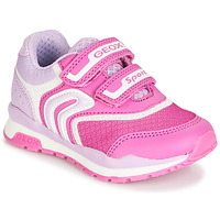 Shoes Girl Low top trainers Geox PAVEL Pink
