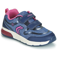Shoes Girl Low top trainers Geox SPACECLUB Navy / Pink