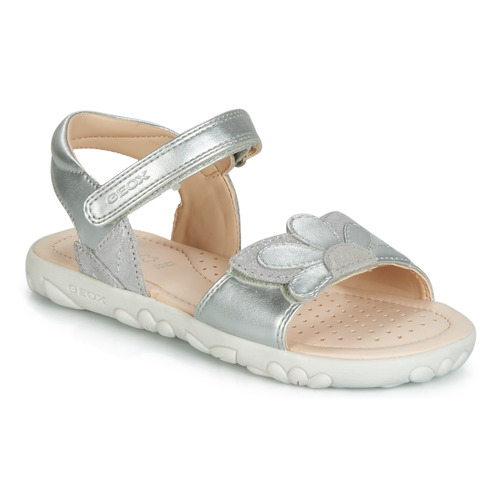 Shoes Girl Sandals Geox HAHITI Silver