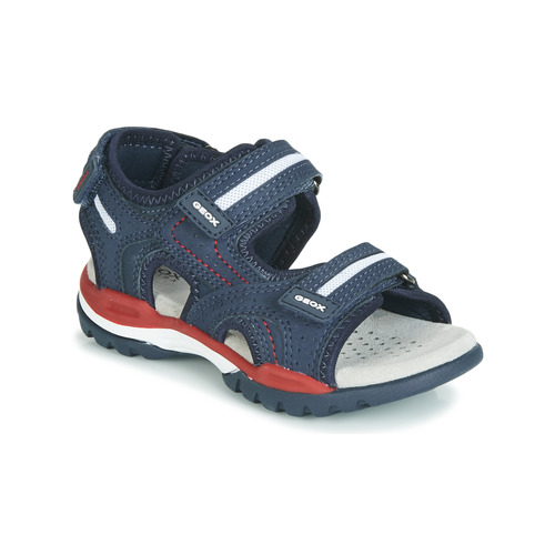 Shoes Boy Sandals Geox BOREALIS Blue / Red
