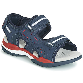 Shoes Boy Sandals Geox BOREALIS Navy / Red