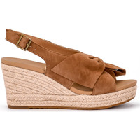 Shoes Women Espadrilles UGG UGG Camilla suede leather wedge sandal. Brown