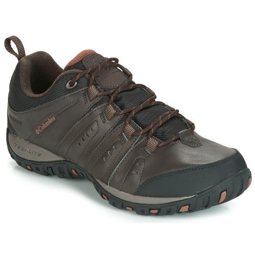 Shoes Men Multisport shoes Columbia WOODBURN II WATERPROOF Brown