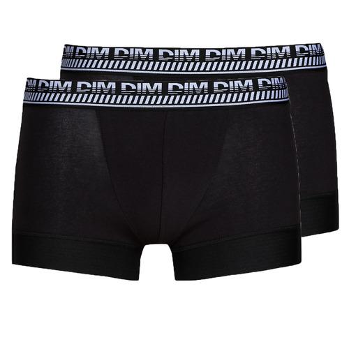 Underwear Men Boxer shorts DIM 3D FLEX STAY & FIT X 3 Black