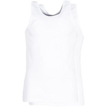 Underwear Men Bodysuits DIM X-TEMP TOPS X 2 White