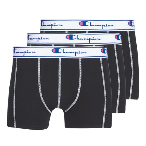 Underwear Men Boxer shorts Champion UNI X3 Black