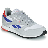 Shoes Boy Low top trainers Reebok Classic CLASSIC LEATHER Grey / Blue