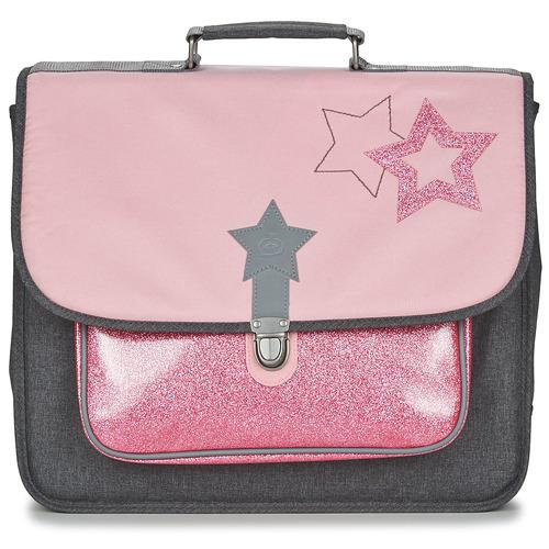Bags Girl Satchels Citrouille et Compagnie SCUOLA 41 CM Pink / Grey