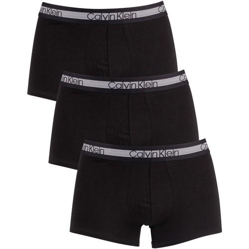 Underwear Men Boxer shorts Calvin Klein Jeans 3 Pack Cooling Trunks black