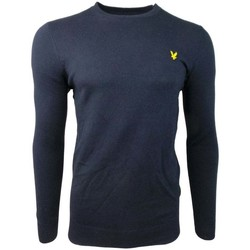 Clothing Men jumpers Lyle And Scott Vintage Crew Neck Cotton Merino Jumper blue