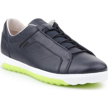 Shoes Men Low top trainers Geox U Nexside A-Nappa U927GA-00085-C4002 navy