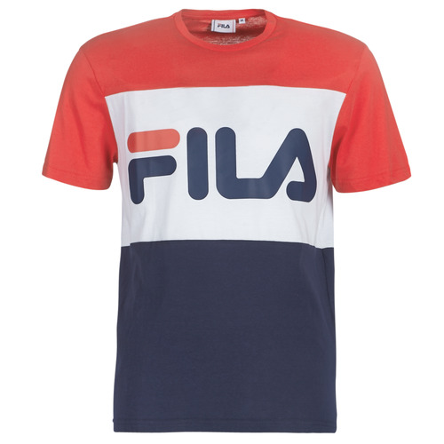 Clothing Men short-sleeved t-shirts Fila DAY TEE Marine / Red / White