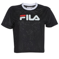 Clothing Women Short-sleeved t-shirts Fila WOMEN MICHELLE CROPPED MESH TE Black