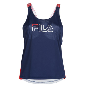 Clothing Women Tops / Sleeveless T-shirts Fila WOMEN BELLA LOOSE TANK Marine / Red / White