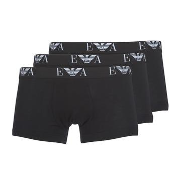 Underwear Men Boxer shorts Emporio Armani CC715-PACK DE 3 Black
