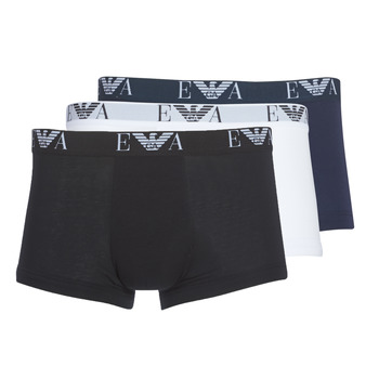 Clothing Men Boxer shorts Emporio Armani CC715-111357-56110 White / Black / Marine
