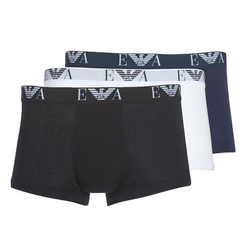 Underwear Men Boxer shorts Emporio Armani CC715-111357-56110 White / Black / Marine
