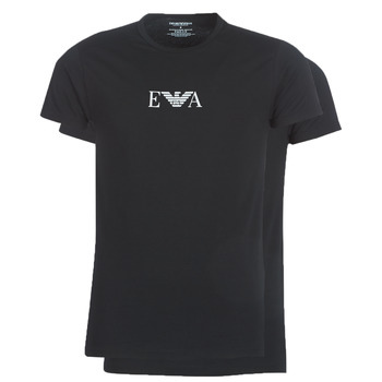 Clothing Men Short-sleeved t-shirts Emporio Armani CC715-PACK DE 2 Black