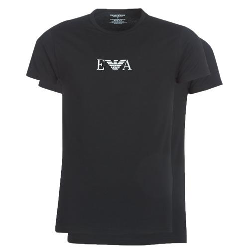 Clothing Men Short-sleeved t-shirts Emporio Armani CC715-PACK DE 2 Black