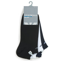 Shoe accessories Men Socks Emporio Armani CC134-300008-00997 White / Black / Marine