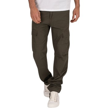 Clothing Men Cargo trousers Carhartt Work In Progress Rinsed Aviation Slim Fit Cargos green