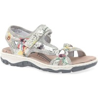 Shoes Women Outdoor sandals Rieker Scale Womens Casual Sandals Multicolour
