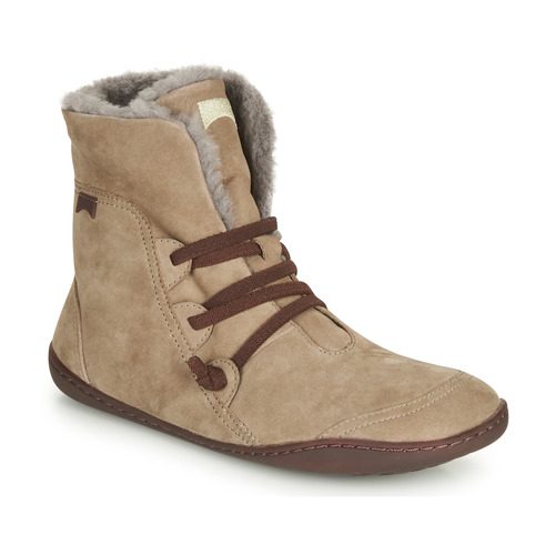 Shoes Women Mid boots Camper PEU CAMI Beige
