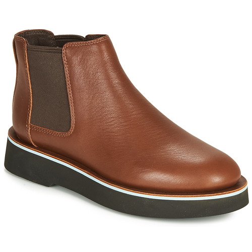 Shoes Women Mid boots Camper TYRA chelsea Medium / Brown