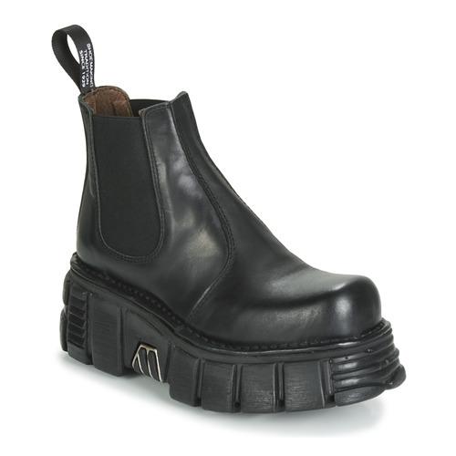 Shoes Women Mid boots New Rock M-1554-C1 Black