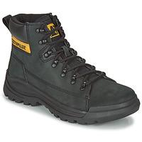 Shoes Men Mid boots Caterpillar Brawn  black
