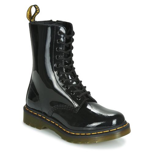 Shoes Women Mid boots Dr Martens 1490 PATENT LAMPER Black