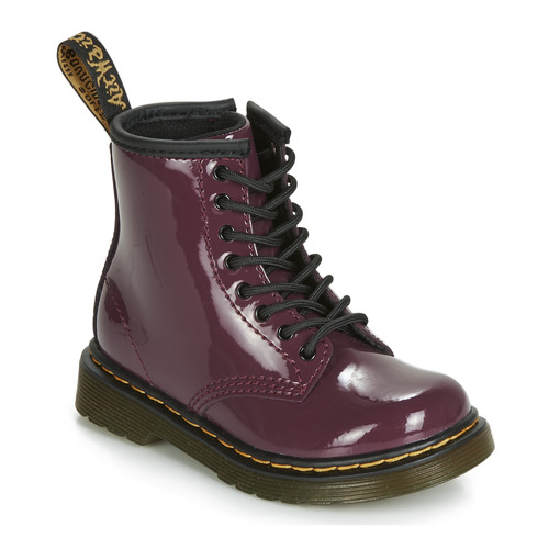Shoes Girl Mid boots Dr Martens 1460 PATENT TODDLER Purple