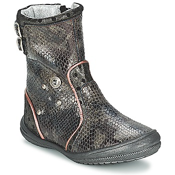 Shoes Girl High boots Catimini CLABAUD Bronze / Black