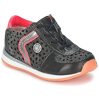 Shoes Girl Mid boots Catimini CISTUDE Ctv / Black-fuchsia