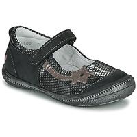Shoes Girl Flat shoes GBB NYOKO Black / Silver
