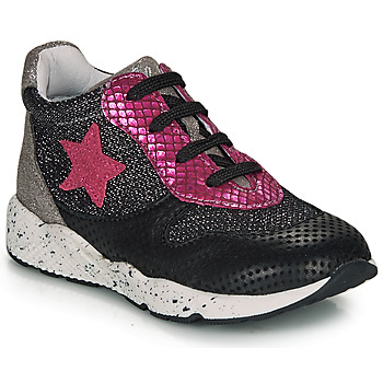 Shoes Girl Low top trainers Ikks KAREN Black / Pink