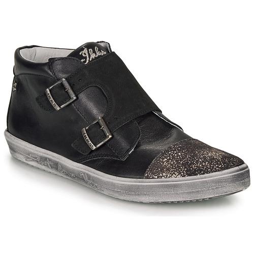 Shoes Girl Hi top trainers Ikks BIANCA Black